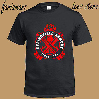 New Springfield Armory Logo Since 1794 Mens Black T Shirt Size S To 3Xl