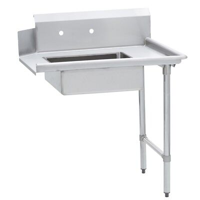 Commercial Kitchen Stainless Steel Soiled Dish Table Right Side 30 X 60 G