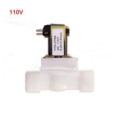 Water Solenoid Valve Electric Magnetic 110v Nc Air Inlet Flow Switch 12in New