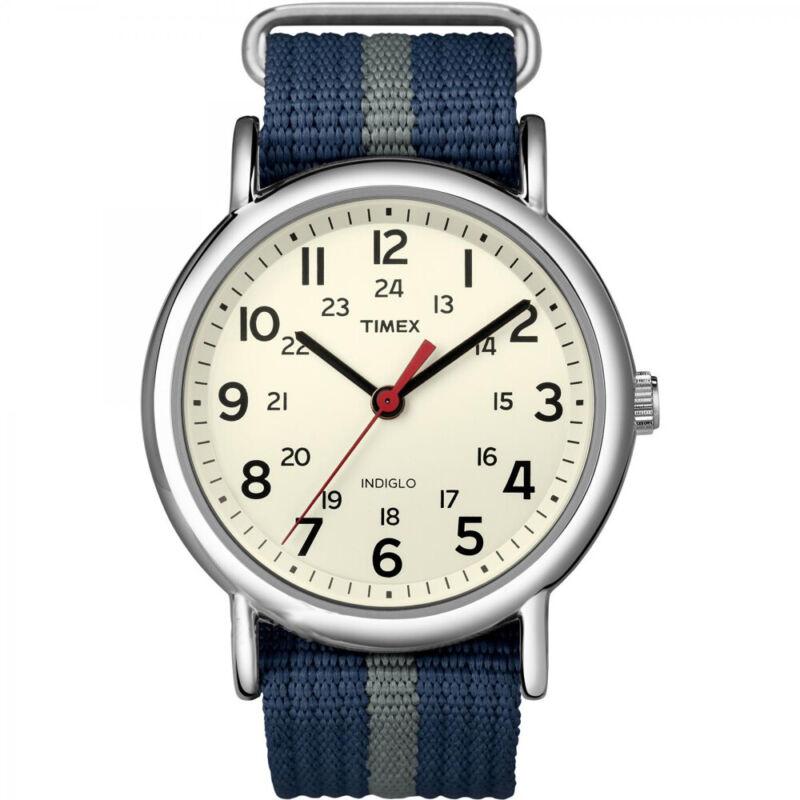 Timex Weekender Slip-Thru Watch - Navy/Gray  (T2N654)