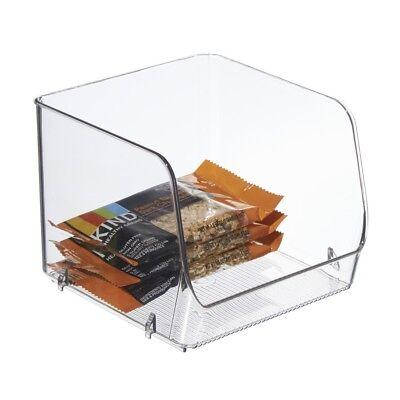 Interdesign Clear Stacking Open Front Organizer Bin, Medium Size