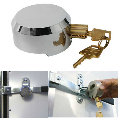 Hidden Shackle Hockey Puck Padlock Van Trailer Door Lock 73mm 2 Key