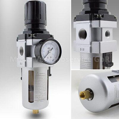 Druckluft Wartungseinheit 1/2 Druckminderer Wasserabscheider Öler Filter NEU