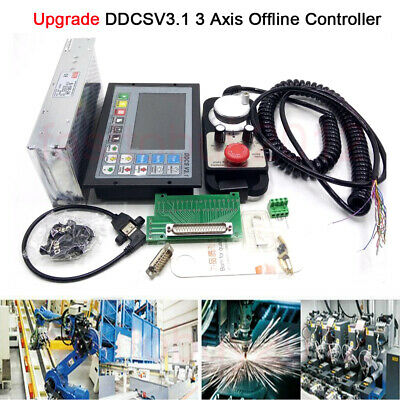 Upgrade Ddcs V3.1 3 Axis Offline Controller Motion G-code Power Supply Router