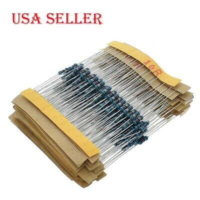 10 -1m 14w Resistance 1 Metal Film Resistor Resistance Assortment Kit 300pcs