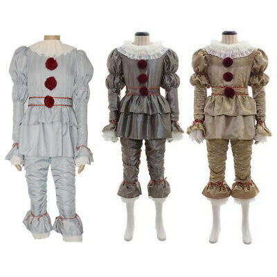Stephen King's Joker Cosplay Costume Set Adult Women Men Pennywise Clown Suit](Rex Costume)
