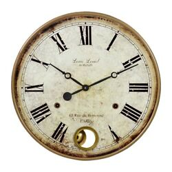 Aspire Home Accents Raleigh Pendulum Wall Clock 4059 French Country Metal