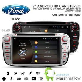 Ford Focus C/S Max Galaxy Android HD Screen Bluetooth GPS Car WiFi Internet 3G DVD USB SD Headunit