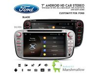Ford Focus C/S Max Galaxy Android HD Screen Bluetooth GPS Car WiFi Internet 3G DVD USB SD Headunit