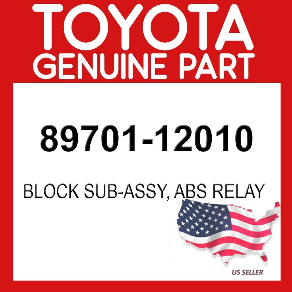 abs relay 8970112010 New Genuine OEM Part 89701-12010 Toyota Block sub-assy