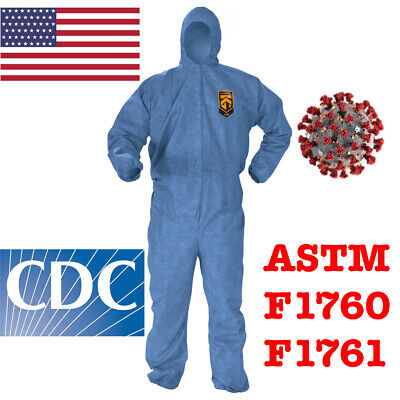 Kimberley-clark Protective Coverall Ppe Tyvek Hazmat Bunny Suit Astm F1670f1671