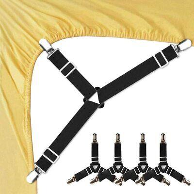 4PCS Bed Sheet Holder Straps Adjustable Triangle Sheet Straps Suspenders