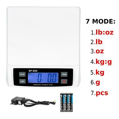 66 Lb X 0.1 Oz 30kg Digital Shipping Postal Scale Postage Kitchen Weigh Adapter