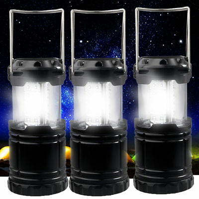 3 Pack Collapsible 30 LED Camping Lantern Portable Hiking Night Light Tent Lamp