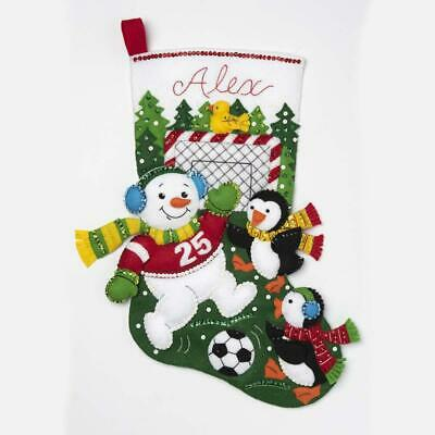 Bucilla® Snowman Soccer Fan Stocking Kit (Soccer Snowman)