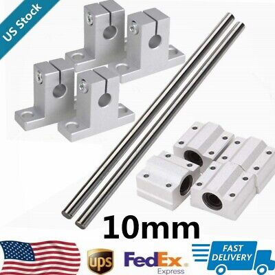 Dia Bearing Slide 10mm 500mm 600mm Linear Shaft Optical Axis Rod Rail Support