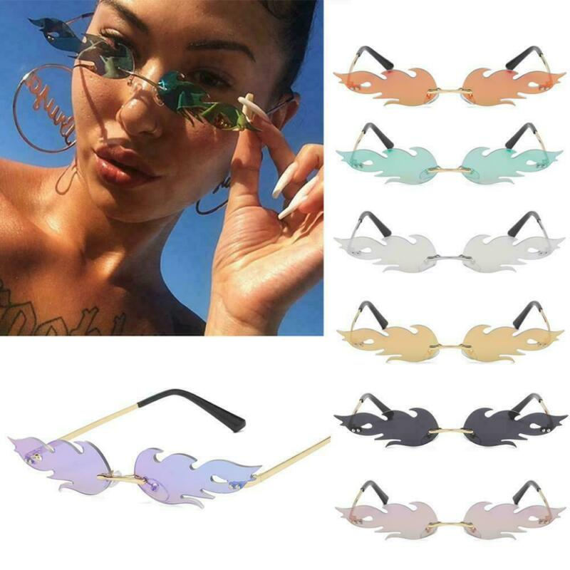 Frauen Männer Flame Sonnenbrillen Randlose Sonnenbrillen Shades