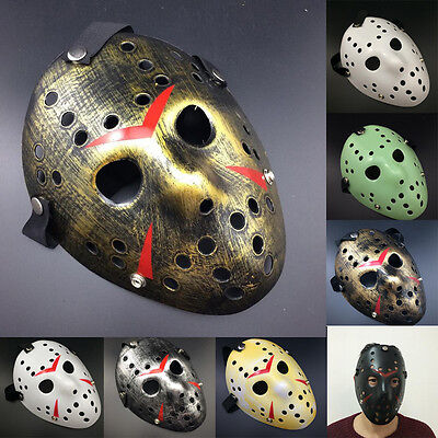 Cosplay Halloween Party Jason Voorhees Friday The 13th Horror Movie Hockey Mask (Halloween Party Movies)