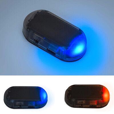 1x Simulation Solar Car Alarm Led Light Security System Warning Theft Flash Us