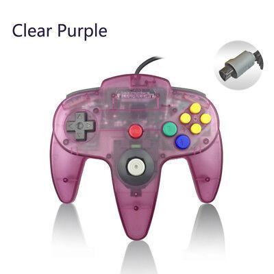 Clear purple N64 Video Wired Classic Controller Gamepad Joystick Joypad