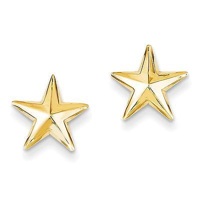 NEW 14k Yellow Gold Polished Nautical Star Post Stud Earrings 11mm x 11mm 14k Gold Post Nautical Earrings