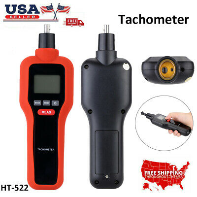 2 in 1 Digital Non-Contact Laser Tachometer Gun RPM Tach Tester Meter 2-99999RPM