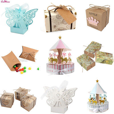 Wedding Sweet Cake Candy Boxes Gift Box Birthday Party Favour Baby Shower Favor - Cake Favor Boxes