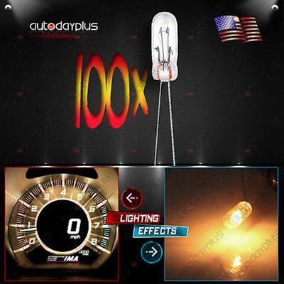 (100) MINI BULBS LAMPS FOR GM SPEEOMETER CLUSTER BACKLIGHT LIGHT 12v-14v 95ma)