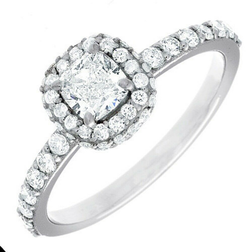 Natural GIA Certified 1.78 carat Cushion Cut Diamond Engagement Ring 14k Gold