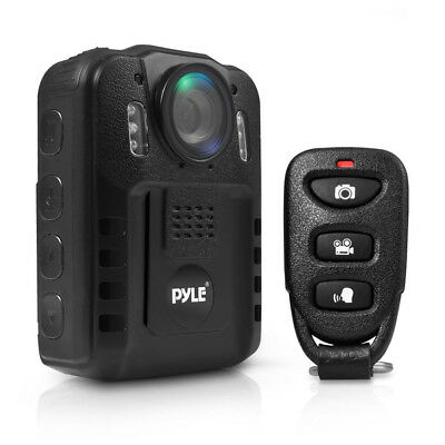 Pyle PPBCM9 Compact Portable 1080p HD Infrared Night Vision Police Body Camera -