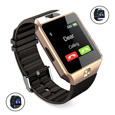 Smartwatch Armbanduhr Fitness Tracker Bluetooth Android SIM Kamera Sport SMS LCD (Android Fitness-tracker Uhr)