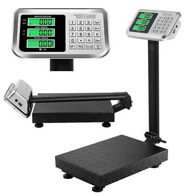 Us 1000.1kg 220lb Digital Shipping Postal Scale Floor Platform Stainless Weight