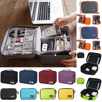 Portable Electronic Accessories Travel Cable USB Drive Organizer Bag Insert Case