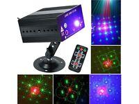 48 Patterns Laser Projector Stage Lighting LED RGB Party DJ Disco Birthday Light