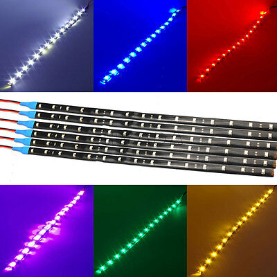 (6 Pack  DC 12V Waterproof 1Ft 15 LED Strip Underbody Light with 6