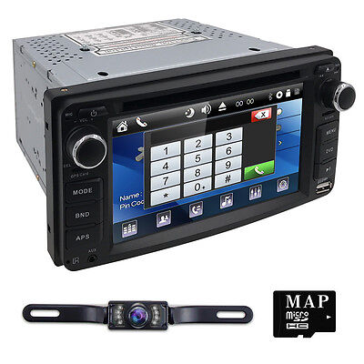 HIZPO Car in dash dvd player Radio Stereo GPS Navigation fit Toyota+Camera
