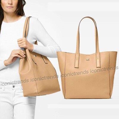 NWT🌼 Michael Kors Junie Large Slouchy Shoulder Leather Tote Bag Butternut - Beige Tote Bag