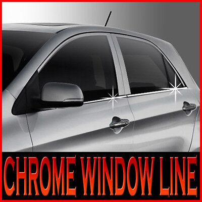 Chrome Window Accent Line Cover Sill Molding Trim K832 For KIA 2018 2019 Picanto