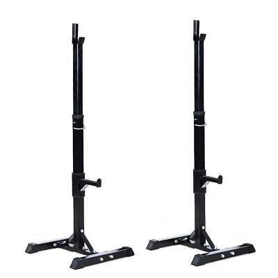 Adjustable Barbell Stand Multifunction Squat Rack Home Gym W