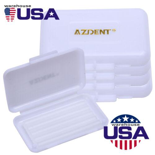 100 Packs Dental Orthodontic Wax Original Scent White Patient Relief Wax AZDENT
