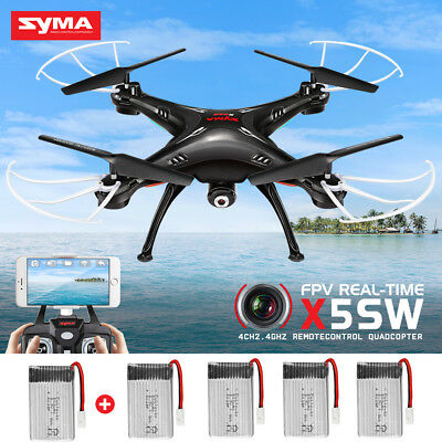 Explorer SYMA X5SW RC Quadcopter Drone Wifi Camera FPV Real Time Headless Black
