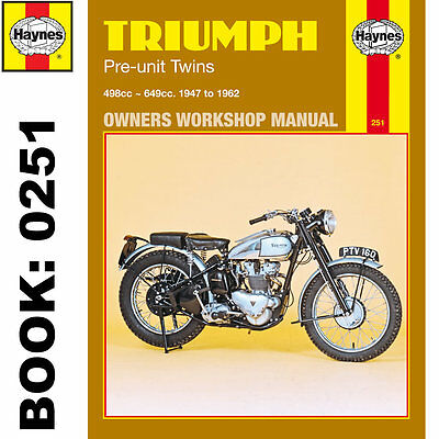Triumph Pre-Unit Twins 5T 6T T110 T120 Tiger 1947-62 Haynes Workshop Manual