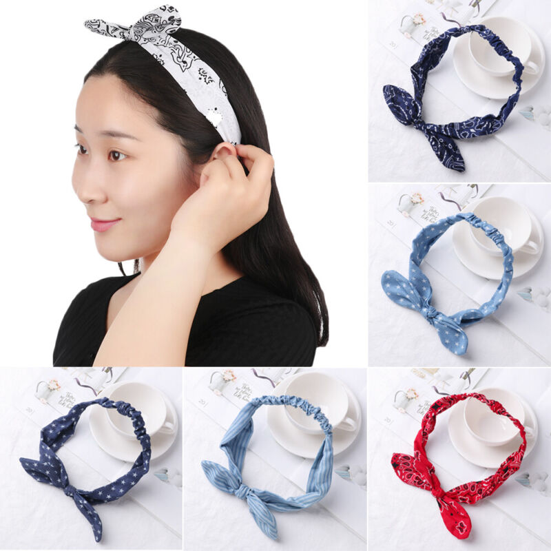 Turban Hair Bands Cowboy Knot Headband Elastic Hairband Head Wrap Headwear