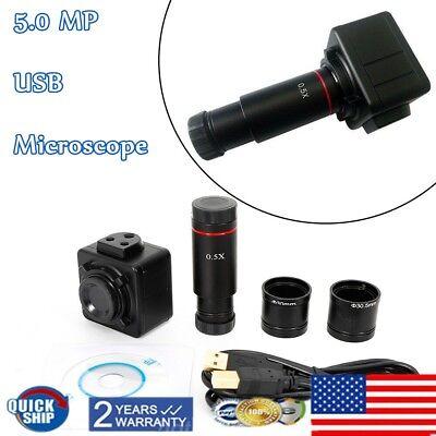 Cmos Digital Camera 5mp Electronic Eyepiece Hd Usb Microscope Accessory Us Stock