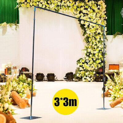 3x3m Stand Pipe Kit Curtain Telescopic Pole Drape Frame Wedding Backdrop decor