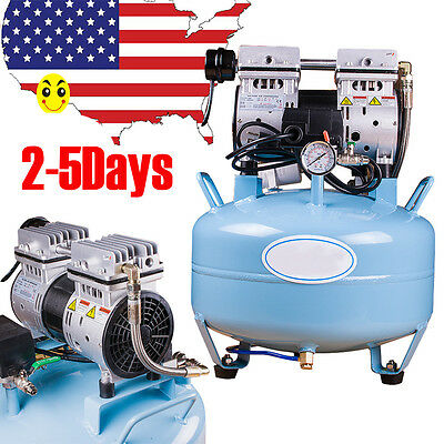 Usa Medical Dental Air Compressor Silent Noiseless Oilless Oill Free 30l 550w