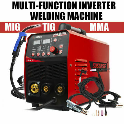 Mig Welder Mma Tig Arc 3in1 Gas Wire Portable 200amp Welding Machine 220v