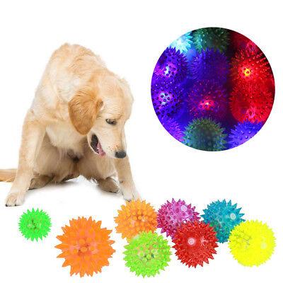 1/5/10X Flashing Light Up Hedgehog High Bouncing Balls Kid Pet Dog Game Chew Toy