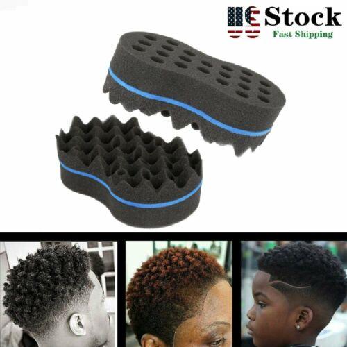 Wave Barber Hair Brush Sponge Double-Side Twist Curls Coil B
