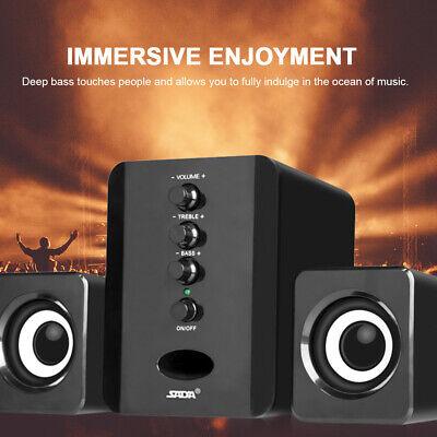 SADA USB 2.1 Wired Mini Computer Speakers Bass Stereo Music